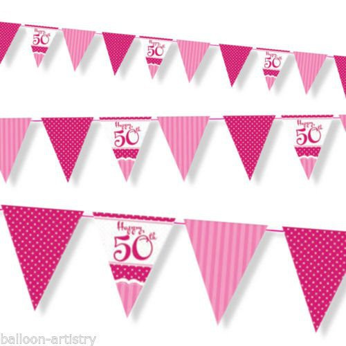 Happy 50 Th Birthday Bunting Party Shop Peterborough Fireworks Peterborough And Party Supplies In Peterborough