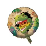 Dino Blast - Foil Balloon [ Happy Birthday ]