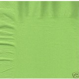 Green Napkins [ Lime green ] 40cm Luxury 3 ply, Pk / 25