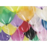 "Multi-coloured 12"" Helium Quality Latex Balloons x 100"