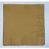 Gold Napkins 40cm - Luxury 3 Ply - Pk / 25