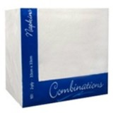 White Lunch Napkins - 33cm, 2ply, 100pk