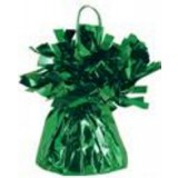 12 X Helium Balloon Weights- Green Foil Tassle Cone