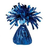 12 X Helium Balloon Weights- Royal Blue Foil Cone