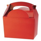 RED PACK OF 10 Party Boxes/ Treat Boxes/ Food Boxes (15cm x 10cm x 10cm) | Kids Party Food Boxes