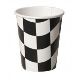 BLACK AND WHITE CHECK PARTY CUPS