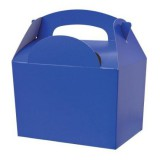 ROYAL BLUE PACK OF 10 Party Boxes/ Treat Boxes/ Food Boxes (15cm x 10cm x 10cm)