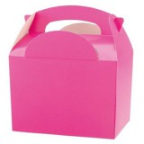 HOT PINK 1 x INDIVIDUAL Party Boxes/ Treat Boxes/ Food Boxes (15cm x 10cm x 10cm)