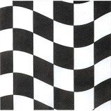 BLACK AND WHITE WAVY CHECK NAPKINS