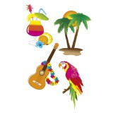 Luau Party - Wall Decorations 4pk - 52516