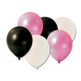 "Party Mix Balloons - 6 x 12"" Helium Quality Latex Balloons"