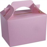 BABY PINK 1 x INDIVIDUAL Party Boxes/ Treat Boxes/ Food Boxes (15cm x 10cm x 10cm) | Party Lunch Boxes