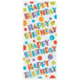 Cello Bags - BUBBLY BIRTHDAY, pk / 20 - 62027