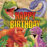 Dino Blast Napkins - Happy Birthday