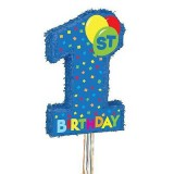 First Birthday Blue Pull Pinata - 66307