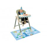 First Birthday Balloons Blue High Chair Decoration Kit