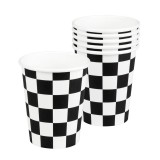 Racing Party - Paper Checkered Cups 6pk - 44753