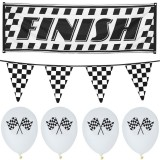 Racing Party - Checkered Decoration Party Pack