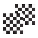 Racing Party - Paper Checkered Napkins 12pk, 33cm -44754