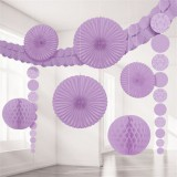 Lilac Damask Deluxe Backdrop Kit / Room Decorating Kit