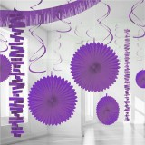 Purple Backdrop / Room Decorating Kit 18 Pieces
