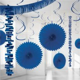 Royal Blue Backdrop / Room Decorating Kit 18 Pieces