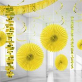 Yellow Backdrop / Room Decoration Kit 18 Pieces