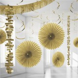 Gold Backdrop / Room Decorating Kit 18 Pieces