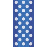 Royal Blue Polka Dots - Cello Bags, pk / 20
