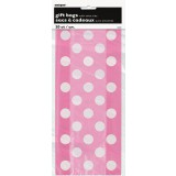 Hot Pink Polka Dots -Cello Bags, pk /20