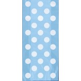 Powder Blue Polka Dots - Cello Bags