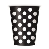 Black Polka Dots - Cups