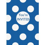 Royal Blue Polka Dots - Invitations