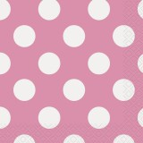 Hot Pink Polka Dots - Napkins