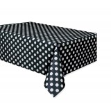 Black Polka Dots - Tablecover
