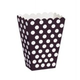 Black Polka Dots - Treat / Popcorn Boxes