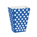 Royal Blue Polka Dots - Treat / Popcorn Boxes