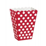Red Polka Dots - Treat / Popcorn  Boxes