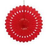 Decorative Red Fan - 64265