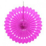 Hot Pink Decorative Paper Fan - 64262