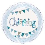 "18"" Foil Blue Bunting Christening Balloon 52066"