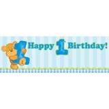 Giant First Birthday Banner Blue 291430
