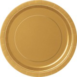 "Gold plates, 9"" round, pack of 16, 33252"