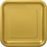 "Gold plates, 9"" square, pack of 14, 33243"