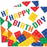Block Party-LEGO inspired HAPPY BIRTHDAY napkins-102051