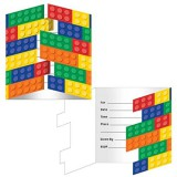 Block Party - LEGO inspired party invitations