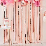 Rose Streamers party Photo Backdrop