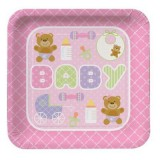 Baby Bear Baby Shower plates