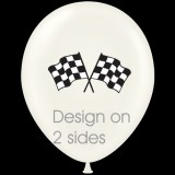 LATEX BALLOONS CHEQUERED FLAGS