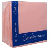 Pale Pink/Rose Pink Dinner Napkins - 40cm, 2ply, 100pk